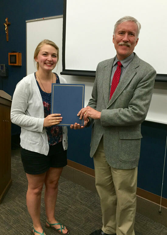 Kaitlyn Kennedy Receives Marti Award