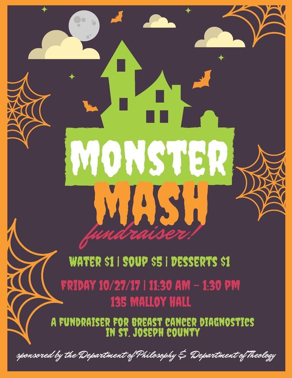 monster mash soup fundraiser events department of theology